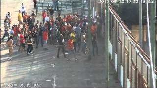 Messina fans clash with police after match 30.05.2015