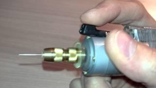 getlinkyoutube.com-Самодельная мини дрель на базе двигателя ДПМ 25-Н3-01