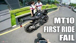 getlinkyoutube.com-Yamaha MT10 (FZ10) First Ride... FAIL !!