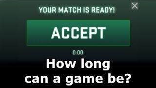How long can CS GO games last?