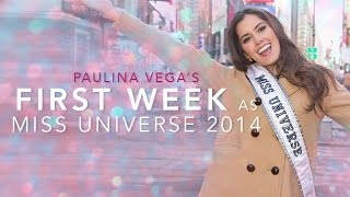 getlinkyoutube.com-Paulina Vega's First Week as Miss Universe 2014