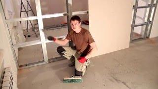 getlinkyoutube.com-Как сделать перегородку из гипсокартона (ГКЛ) своими руками инструкция