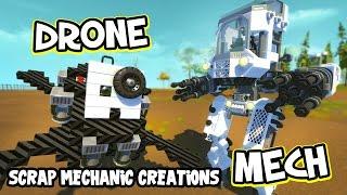getlinkyoutube.com-Scrap Mechanic CREATIONS! - AMAZING ROBOTS!! [#17] W/AshDubh   Gameplay  