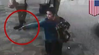 getlinkyoutube.com-Airport attack: Fort Lauderdale gunman Esteban Santiago caught on camera