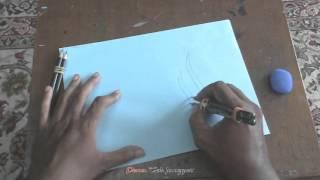 getlinkyoutube.com-Allah in freestyle Arabic Calligraphy