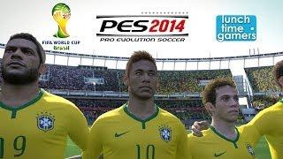 getlinkyoutube.com-[LTG] PES 2014 : Brazil vs Croatia (World Cup 2014) Match Simulation (12 June 2014)