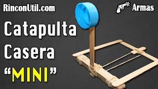 getlinkyoutube.com-Mini catapulta casera | Armas caseras