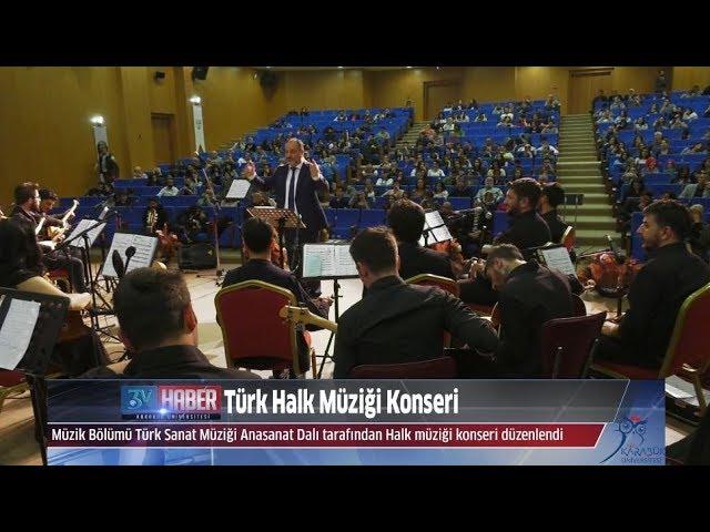 KBÜ'de Türk Halk Müziği Konseri Düzenlendi