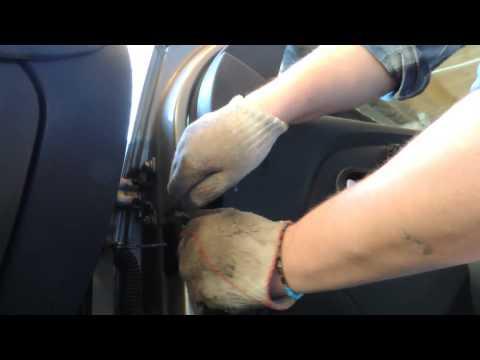 Снятие обшивки двери Renault Logan+Шумоизоляция