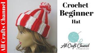 getlinkyoutube.com-How to crochet Easy Beginner Hat