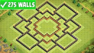 "getlinkyoutube.com-Clash Of Clans | ""NEW"" BEST TOWN HALL 10 (TH10) FARMING BASE w/275 Walls 