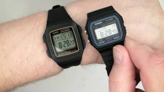 getlinkyoutube.com-CASIO F-201WA-9 Men's Wristwatch Module 3196 or Module 3238