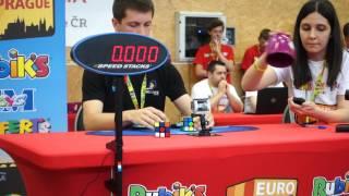 getlinkyoutube.com-Feliks Zemdegs and Collin Burns at Rubik's Cube Euro 2016 in Prague (3x3)