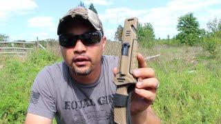 getlinkyoutube.com-Ganzo Survival Knife Test Review