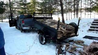 getlinkyoutube.com-Dump Trailer Firewood Delivery - Half Cord