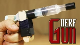 getlinkyoutube.com-How To Make The Simplest Nerf Pistol That Shoots Bullets