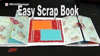 getlinkyoutube.com-Easy Scrapbook Tutorial | Valentine's Special Scrapbook | How to make | JK Arts 967