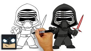 getlinkyoutube.com-How to Draw Kylo Ren (Chibi)- Star Wars Art Lesson