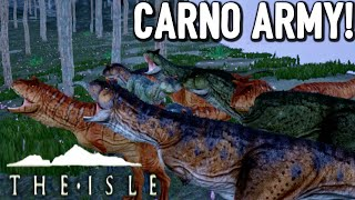 getlinkyoutube.com-The Isle - MEGA CARNO SUBSCRIBER ARMY - Ep7 (Early Access Gameplay)