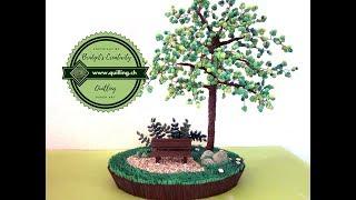 getlinkyoutube.com-Bridgit's Quilling Perlen-Baum Nr. 01 (Tutorial)  Quilling Tree