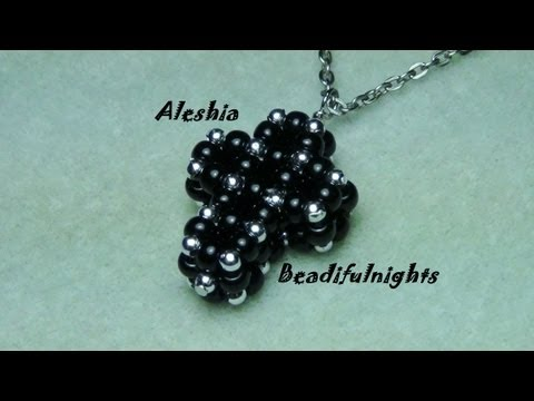 3D Cubic Right Angle Weave Beaded Cross Tutorial
