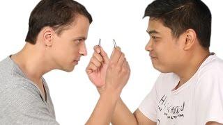 getlinkyoutube.com-Men Pluck Each Other's Nose Hair
