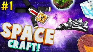 getlinkyoutube.com-Minecraft SPACE CRAFT - TO THE MOON - Modded Survival #1