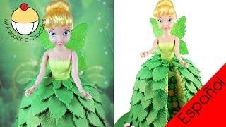 getlinkyoutube.com-¡Haz una Torta-PIÑATA SORPRESA del Hada Princesa CAMPANITA! Parte 1