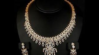 getlinkyoutube.com-Latest 13 Diamond Necklace jewellery Designs