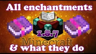 getlinkyoutube.com-Minecraft all enchantments and what they do (1.8+)
