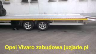getlinkyoutube.com-Opel Vivaro Renault Trafic Laweta Autolaweta aluminiowa zabudowa juzjade.pl