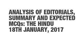 getlinkyoutube.com-Editorial Analysis, Summary, and Expected MCQs: The Hindu - January 18 {UPSC CSE/IAS, SSC CGL/CHSL}