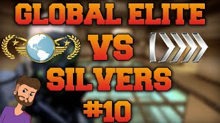 CS GO - Global Elite VS Silvers #10 (With reactions!)