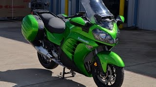 getlinkyoutube.com-$15,499:  2015 Kawasaki Concours 14 ABS Candy Lime Green Overview and Review