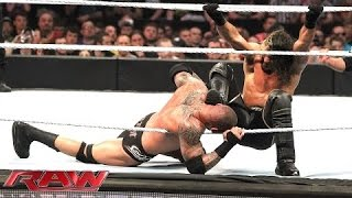 getlinkyoutube.com-RAW - Randy Orton & Roman Reigns vs. Kane & Seth Rollins (April 27, 2015)