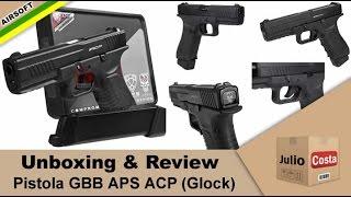getlinkyoutube.com-Unboxing e Review - Pistola APS ACP (tipo Glock) GBB CO2