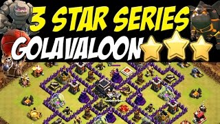 getlinkyoutube.com-3 Star Series: Golavaloon Attack Strategy TH9 vs Max Defenses TH9 War Base #30 | Clash of Clans