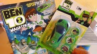 getlinkyoutube.com-Ben 10 Omniverse Car Discs Shooter Toys Unbnoxing
