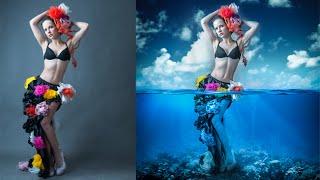 getlinkyoutube.com-Photoshop Manipulation Tutorials Photo Effects   Underwater Girl
