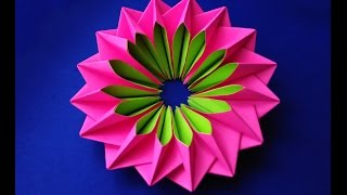 getlinkyoutube.com-Easy and rich paper flower. DIY Easter decor. Awesome mandala. Bright piece for room decoration