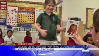 Books of Collier Kids anuncia el número de libros donados este año, y desde su fundación