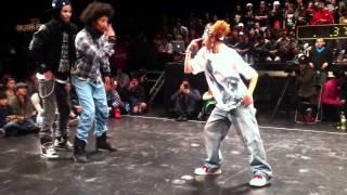 getlinkyoutube.com-Juste Debout Japon LES TWINS 8ème 2011.1.11 tokyo Hip Hop
