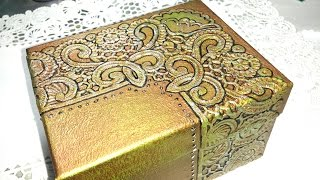 getlinkyoutube.com-DIY CAJA REPUJADA CON OBLEAS - BOX EMBOSSED WITH WAFERS