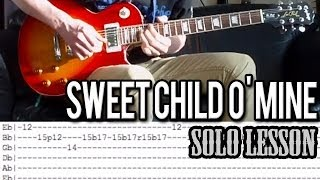 Guns N'Roses - Sweet Child O'Mine SOLO Guitar Lesson (With Tabs)