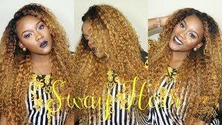 getlinkyoutube.com-How To: Curly Golden Locks with Sway Hair Brazilian Deep Curly