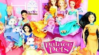 getlinkyoutube.com-NEW Disney Palace Pets Collection Princess Dolls Ariel Little Mermaid, Rapunzel, Cinderella, Belle