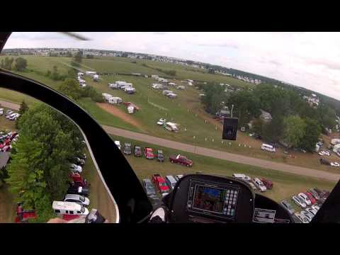 Helicopter Rotorway A600 Talon  Gopro Camera  Oshkosh 2012