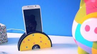 getlinkyoutube.com-DIY Support de téléphone portable avec perles à repasser Hama
