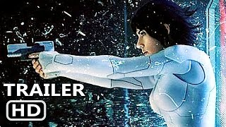 GHOST IN THE SHELL - All Trailers (2017) Scarlett Johansson Action Movie HD
