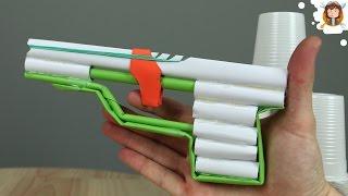 getlinkyoutube.com-Como Hacer una Pistola de Papel